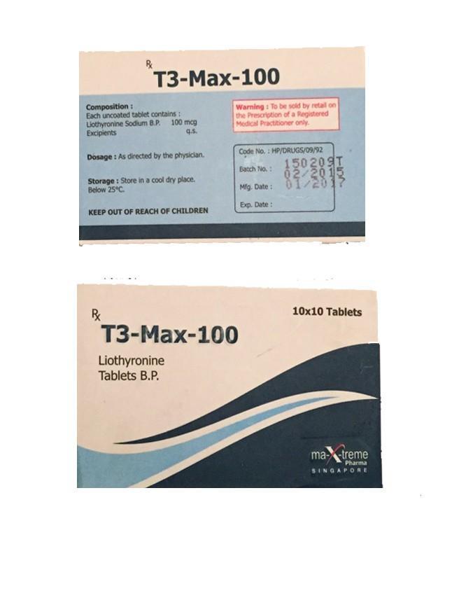 T3 Max Triiodothyronine Generico 100mcg